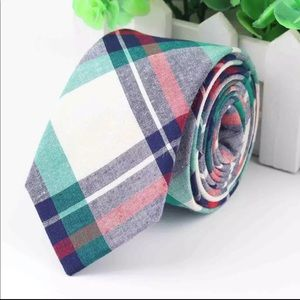 Green / Blue / Red Plaid (Easter / Spring) Tie